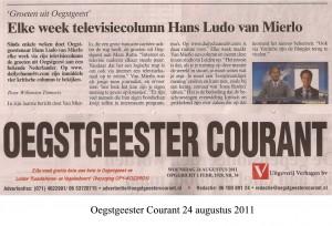 """Hans Ludo van Mierlo met """"Groeten uit Oegstgeest"""""""