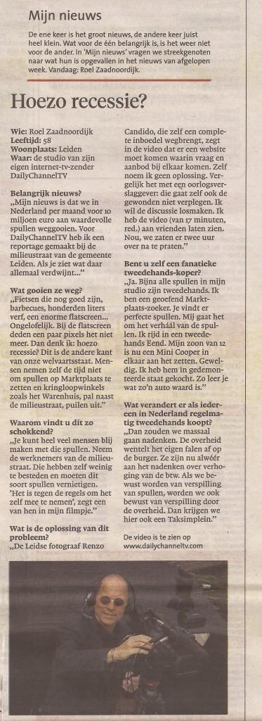 Leidsch Dagblad 29 juni 2013
