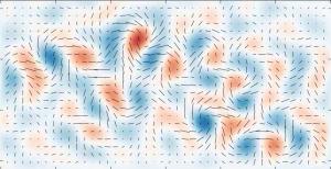 Een eerste weergave van de zwaartekrachtgolven als bewijs voor de Big Bang, de enorme explosie aan het begin van ruimte en tijd.