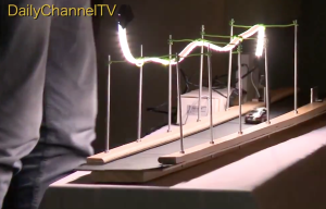 Een van de winnende uitvindingen: de lampendetector